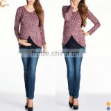 Long sleeve maternity clothes and nursing breastfeeding tops