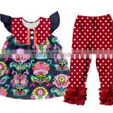 popular deisgn 2pcs baby girls giggle moon remake outfits