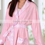 Eco-friendly high quality soft anti-bacterial bamboo women bathrobes