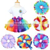 Rainbow colourful grenadine pettiskirts girl tutu dress unique baby girl names images