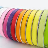 New Type Cheap Custom Size 196 solid color Double Face striped satin polyester gift packing ribbon