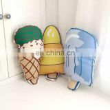 Icecream Inflatable Travel Pillow Plush Icecream Kids Toy for Christmas 3D Dolls Printing Cushion for Baby