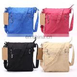 Fashion Shoulder Bag Nylon Messenger Bag Black Multi-pocket Crossbody Bag Small Zipper Bag