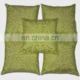 Cut Work Cushion Patchwork Indian Pillow Covers