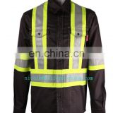 UL certificates flame retardant refelctive HRC2 electrician welding safety workwear shirt with NFPA2111 standards