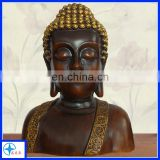 Resin Retro Budda Bust statue for Religious,Sitting Budda Figure for home decoration