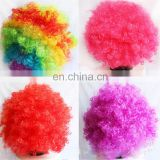 football fan party wigs cheerleaders clown costume wig hair
