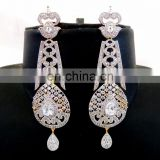 Cubic Zirconia Dangle Earring-Fashion wear American Diamond Earring-Party wear Diamond Earring - CZ Earrings