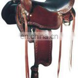 trail saddle - New 16 Cowboy Roughout Ranch Training Work Reining Trail Western Leather Saddle