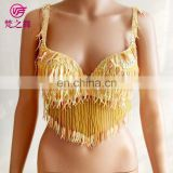 Egypt professional Performance sequin beaded tassel belly dance bra