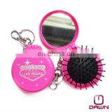Promotional round keychain mirror brush CD-MP501