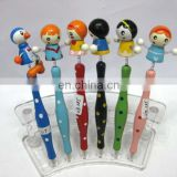 wooden cartoon pen for gift and promotion