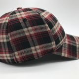 The British men and women Pink Gingham curved eaves leisure duck tongue all-match baseball hat shading trend