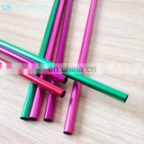 6 pcs Colorful Aluminum Straw Set Packing in a Bag