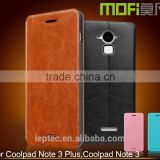 MOFi Case Funda Celular Housing for Coolpad Note 3 Plus, Handset Coque Flip Leather Back Cover for Coolpad Dazen Note3 Plus