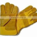 Cheap cow split leather gloves safety working gloves/leather gloves