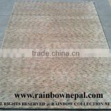 Nepal Custom Hand Knotted Contemporary Wool Silk Rug