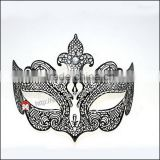 Orleans Laser-Cut Metal Black welding queen mask