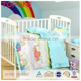 Cartoon soft cheap home printed bedding for baby