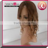 hot selling hair goods full thin skin cap human hair lace wigs