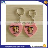 Personalized heart shaped rubber keychain for promotion item                                                                                                         Supplier's Choice