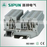 ST3 spring clip type electrical din rail terminal block