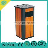 outdoor trash can,garbage can,wooden trash can