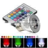 China new ac85-265v 12v e27 gu10 mr16 remote control rgb spotlights LED wireless color changing led christmas lights                                                                         Quality Choice