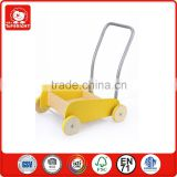 2015 new toys for kid children creative toys BSCI and ICTI factory hotsale own designer design cute wooden baby walker