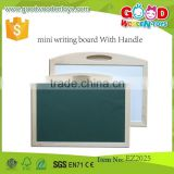 natural wooden material educational magnetic blackboard mini writing board with handle