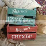 Vintage wooden beer crate box