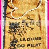 Printing Jute Bag with Rope Handle,drawstring bags,Draw string bag,Cord Bag