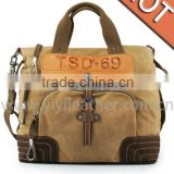 TSD-01 Khaki Canvas Handbag,Fashion tote bags for you to take on duty or at weekend                                                                         Quality Choice