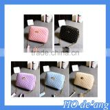 Hogift Wholesale Ladies Leather And Ikat Canvas Cross Body fancy colored slings handbags