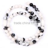 loose black and white diamond beads 8 mm