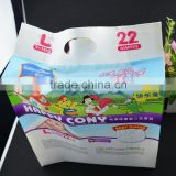 portable plastic adult baby diaper plastic bags / disposable wet nappy packing