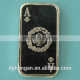 A25 1 Gram 999 Fine Silver Ace of Clubs Bar
