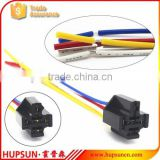 Red yellow white blue black wire car relay sockets, copper wire relay sockets, brass terminal relay socket