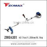 garden tool 43cc ZMG4301 1.25kw grass cutting machine for agricultural machinery used