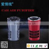 Hot active carbon cold catalyst ionizer negative ion car air purifier