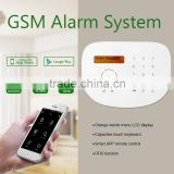 GSM IP camera home alarm system APP/RFID & wireless home security GSM alarm system with YOOSEE camera