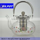 Hot Selling Useful Gift Hand Blown Heat Resistant Borosilicate Glass Coffee Pot 1300J/1600J/2200J