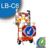 Solar Powered Traffic Sign Trailer For Sale With Portable Led Sign Board