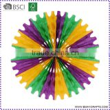 Wholesale Colorful Decorative Hanging Tissue Paper Pinwheel Flower Fan                                                                         Quality Choice