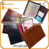 new design hign quality unisex leather passport cover                                                                         Quality Choice