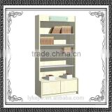 Library Metal Bookcase Steel Bookshelf with 5 Shelves industrial high loading capacity metal shelf/double side steel bookshelf