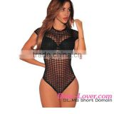 Wholesale 2016 New Trendy Adult Women Black Sheer Caged Sexy Thong Bodysuit