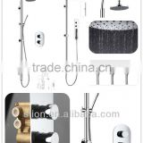 European Shower Set- Swan Neck Shower Arm Sliding Shower Mixer