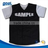 Sublimation black custom plain baseball jersey for sale