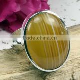 Yellow agate oval cabochon 316L surgical steel ring Good quality new arrival 316l dragon stainless steel ring